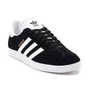Black Adidas Gazelle Athletic shoes
